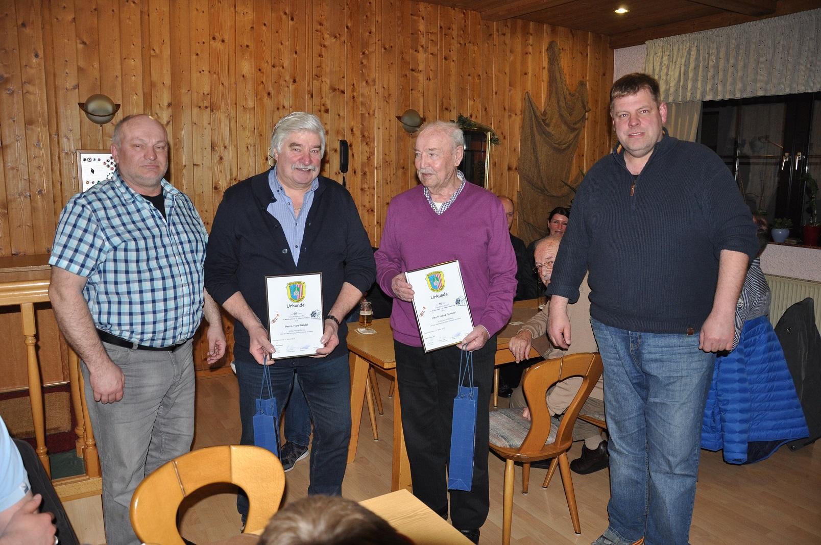 Generalversammlung Musikverein Obertiefenbach Ehrungen